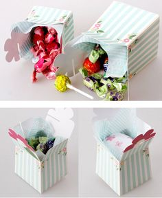 5 Big flower gift box Select one by verryberrysticker on Etsy