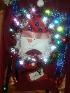 Ugly Christmas Sweater - Snow wreath 2013