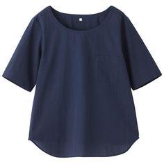 えらべる・綿でくつろぐ涼感五分袖Tシャツ