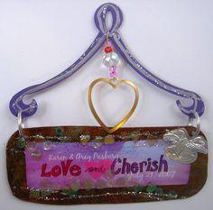 Customizable Karen Rossi Love and Cherish Plaque by KarenRossi, $20.00