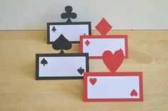 Casino Night Place Cards - Set of 12 - Playing Card Food Tents - Las Vegas Party Theme - Game Night - Adult Birthday - Gambling by DecorateYourBigDay on Etsy https://www.etsy.com/listing/238913901/casino-night-place-cards-set-of-12