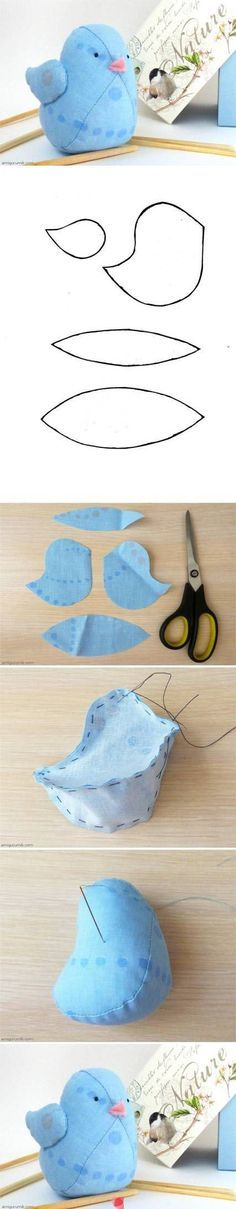 DIY Little Fabric Bird Doll cute blue pretty bird adorable diy doll easy crafts diy ideas diy crafts do it yourself fabric easy diy diy images craft easy diy craft ideas diy tutorial diy tutorials diy tutorial sewing sewing idea sewing ideas sewing crafts Bird Crafts, Felt Crafts, Fabric Crafts, Felt Diy, Easy Crafts, Softies, Bird Patterns, Sewing Patterns, Felt Patterns