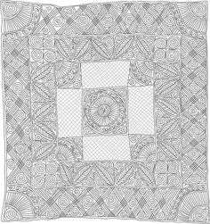Quilting Drawing, made by Linda Baumgarten, IQSCM Free Motion Quilting, Hand Quilting, Machine Quilting, Quilting Patterns, Quilting Ideas, Quilting Designs, Whole Cloth Quilts, Quilt Border, Museum Exhibition