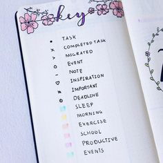 Hi everyone this is my key I made for my new bullet journal I wrote all symbols I use and added cherry blossoms for decoration I really… #key #keys #bulletjournal #bujo #bujojunkies #bujolog #keycolorcode #colorcode #keycode