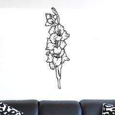 cool Flower Display Wall Sticker