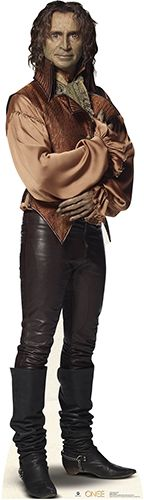 """Robert Carlyle as Rumplestiltskin from the TV Show """" Once Upon A Time"""". Lifesize cardboard cutout."""