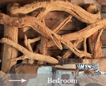 Raw wood bed frame