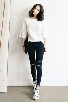 Simple and Sexy Korean Fashion Looks0141