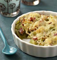 Photo de la recette : Gratin de poireaux aux lardons