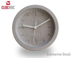 Clocroc - Wanduhr  Beton - Modell Submarine Small von TERRIFIC TUBES / BULBS UNLIMITED / LimpLamp auf DaWanda.com