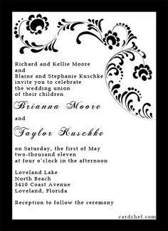 Victorian Wedding INvitation