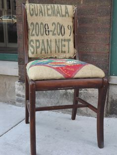 FREE SHIPPING T Starr Spanish Burlap Chair by UniquelyAttainable, $80.00