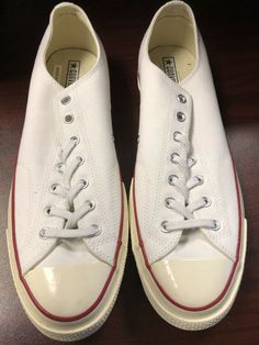 059f6002036 Converse White Chuck Taylor All Star Low Top Men s Shoes sneakers Size 13   fashion