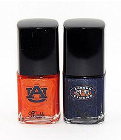 Rumble Cosmetics Auburn University Tigers Paw Prints Nail Polish Duo #Dillards