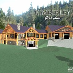 At Cascade Handcrafted Log Homes we'll work with you in choosing a floor plan or your custom design, then we'll build it for you! Floor Plan With Dimensions, Mechanical Room, Log Home Floor Plans, Covered Decks, Basement Stairs, Timber House, Workout Rooms, Log Homes, Building Design