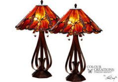 Alahambra Tiffany Style Lamp - Set of 2 30 ht. Find affordable Lighting for your home that will complement the rest of your furniture. Lamp Sets, Light Beige, Tiffany, Kitchen Decor, Table Lamp, Shades, Lighting, Furniture, Lamps
