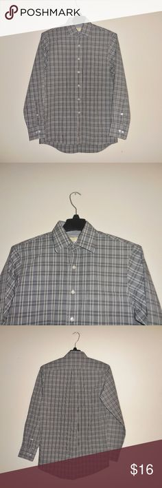 Michael Kors Men's Dress Shirts Size 15/ 34-35 Michael Kors Men's Dress Shirts Size 15/ 34-35 Button Down Casual Check Plaid Gray Casual Michael Kors Shirts Dress Shirts