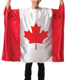 Rasta Imposta Men's Flag Tunic- Canada, Red/White, One Size: Display your Canadian pride by wearing this Canada flag tunic. Also, see the related Canadian flag dress. Wholesale Halloween Costumes, Unique Halloween Costumes, Creative Halloween Costumes, Adult Halloween, Adult Costumes, Costume Ideas, Halloween Week, Halloween Ideas, Canadian Costume