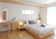 Hotel Room Design, Condo Design, My Home Design, Bed Design, Interior Design, Modern Japanese Interior, Japanese Home Design, Japanese Home Decor, Home Bedroom
