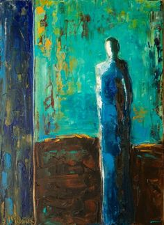 "Saatchi Art Artist Shelby McQuilkin; Painting, ""The Blues--Original is SOLD!"" #art #OilPaintingPeople"
