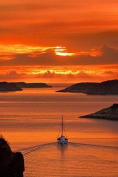 ノルウェーの夕焼け