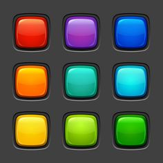 Basic but well executed button designs