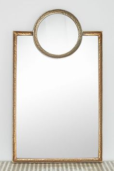 Mirrors - A circular mirror gets a modern update when a smaller mirror of the same shape is layered on top. Living Room Plan, Living Room Furniture Layout, Blush Walls, Pink Walls, Pink Wall Art, Floral Wall Art, Brass Mirror, Circular Mirror, Austin Homes