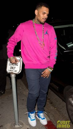 Chris Brown in the Nike Air Tech Challenge II US Open
