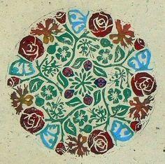 Mandala 4 Rambling Roses van StripedPebble op Etsy