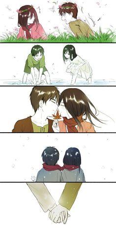 Eren x Mikasa ♡ Eremika | Shingeki no Kyojin #SnK