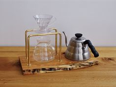 2 Coffee Pour Over Stand, Brew Stand, Brewing Equipment, V60 Coffee, Coffee Maker, Candle Holders, Woodworking, Accessories, Coffee Maker Machine