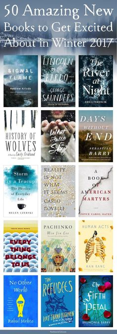 50 Amazing New Books to Get Excited About Winter 2017 - WINTER IS COMING... And so are these 50 amazing new books! Trust me, you won't have any trouble finding something to read this winter.
