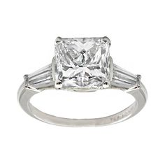 3.38ct Diamond Engagement Ring by NewYorkEstateJewelry on Etsy