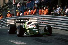 Manfred Winkelhock (GER) (Skoal Bandit F1 Team), RAM 03 - Hart 415T 1.5 Straight-4 (t/c) (DNQ)  1985 Monaco Grand Prix, Circuit de Monaco