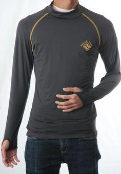 SIMPLESPORTS メンズ ストレッチインナー長袖Tシャツ 画像使用OK品