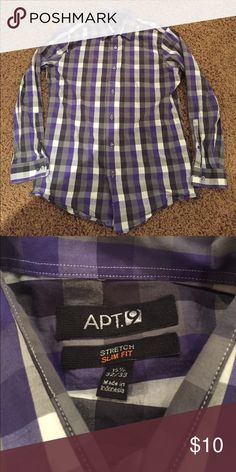 Apt. 9 slim fit dress shirt This dress shirt is in good condition and ready for someone to ❤️ Apt. 9 Shirts Dress Shirts