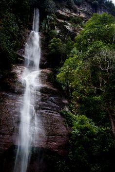 Waterfall in Sumatra, Indonesia #travel #nature