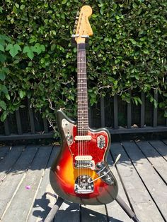 Fender Jaguar 1964 Sunburst Pre-CBS Fender Jaguar, Music Stuff, Musical Instruments, Vintage, Style, Instruments, Bonito, Guitar, Music Instruments