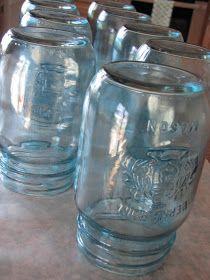 Clean & Scentsible: DIY Blue Mason Jars