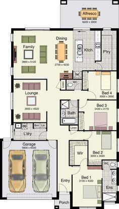 Hotondo - Erskine 240 floor plan Ground Floor: 181.36 m² Garage: 38.06 m² Alfresco: 18.63 m² Porch: 2.39 m² Total: 240.44 m² Width: 12.65 m Length: 22.18 m