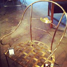 Vintage Furniture:  Brass Chair