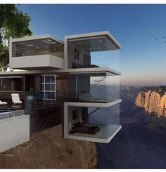 Breathtaking Cliff House Architecture Design and Concept - Page 74 of 82 Architecture Design, Beautiful Architecture, Contemporary Architecture, Contemporary Houses, Landscape Architecture, Cliff House, House Goals, Style At Home, Home Fashion