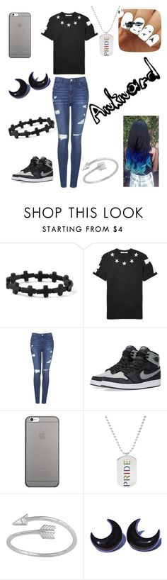"""Untitled #56"" by bethie3313 ❤ liked on Polyvore featuring claire's, Givenchy, Topshop, NIKE, Native Union, Rainbow and Midsummer Star"
