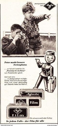 Werbung - Original-Werbung/ Anzeige 1955 - AGFA FILME - ca. 115 x 240 mm