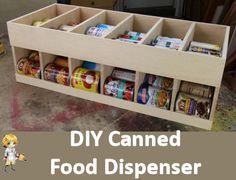 DIY Canned Food Dispenser -  http://thegardeningcook.com/diy-canned-food-dispenser/