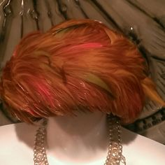 Vintage colorful feather hat This hat is beyond fun and a great vintage piece in perfect condition Accessories Hats