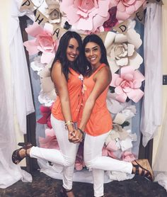 Gorgeous paper flower backdrop for recruitment!