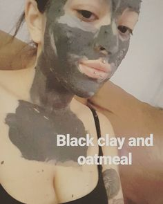 Todays mask my sister made us  with pure black clay  she brought from brasil and oatmeal �� #blackclay #mask #facialmask #oatmeal #skincare #brasil #brazil #maquiadora #maquillista #mua #makeupwhore #makeupgirl #wakeupandmakeup #caligirl #girlswithpiercings #girlswithtattoos http://ameritrustshield.com/ipost/1539395257296550127/?code=BVdB9SYFPjv