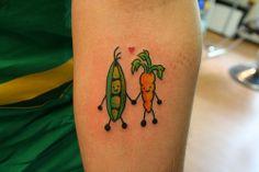 Tatuagem Vegan ... IN LOVE <3