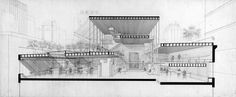 Paul Rudolph Architectural Office - Section Drawing   by kelviin